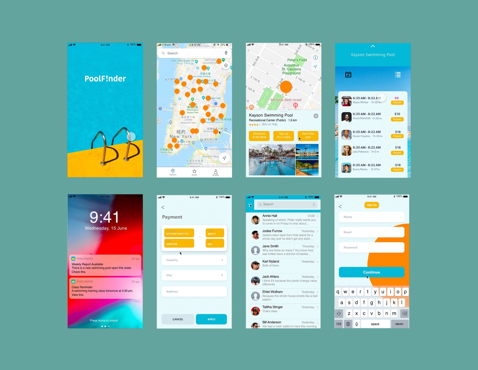 """PoolFinder"": a service design product aiming to assist people to find available swimming pool nearby"