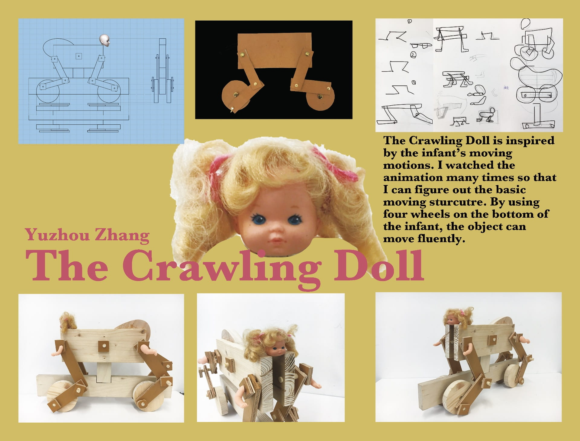 "Space: ""The Crawling Doll"": a wooden handcraft used multiple mechanisms"