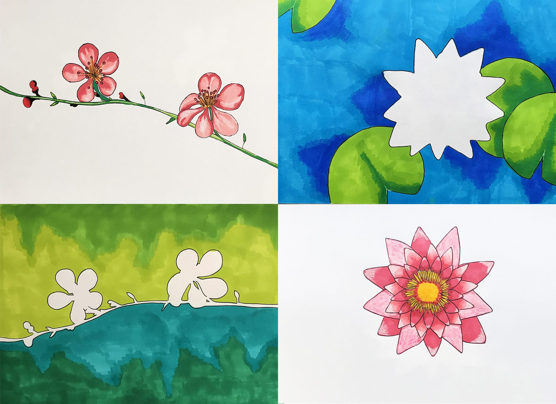 Flowers and Negative Space