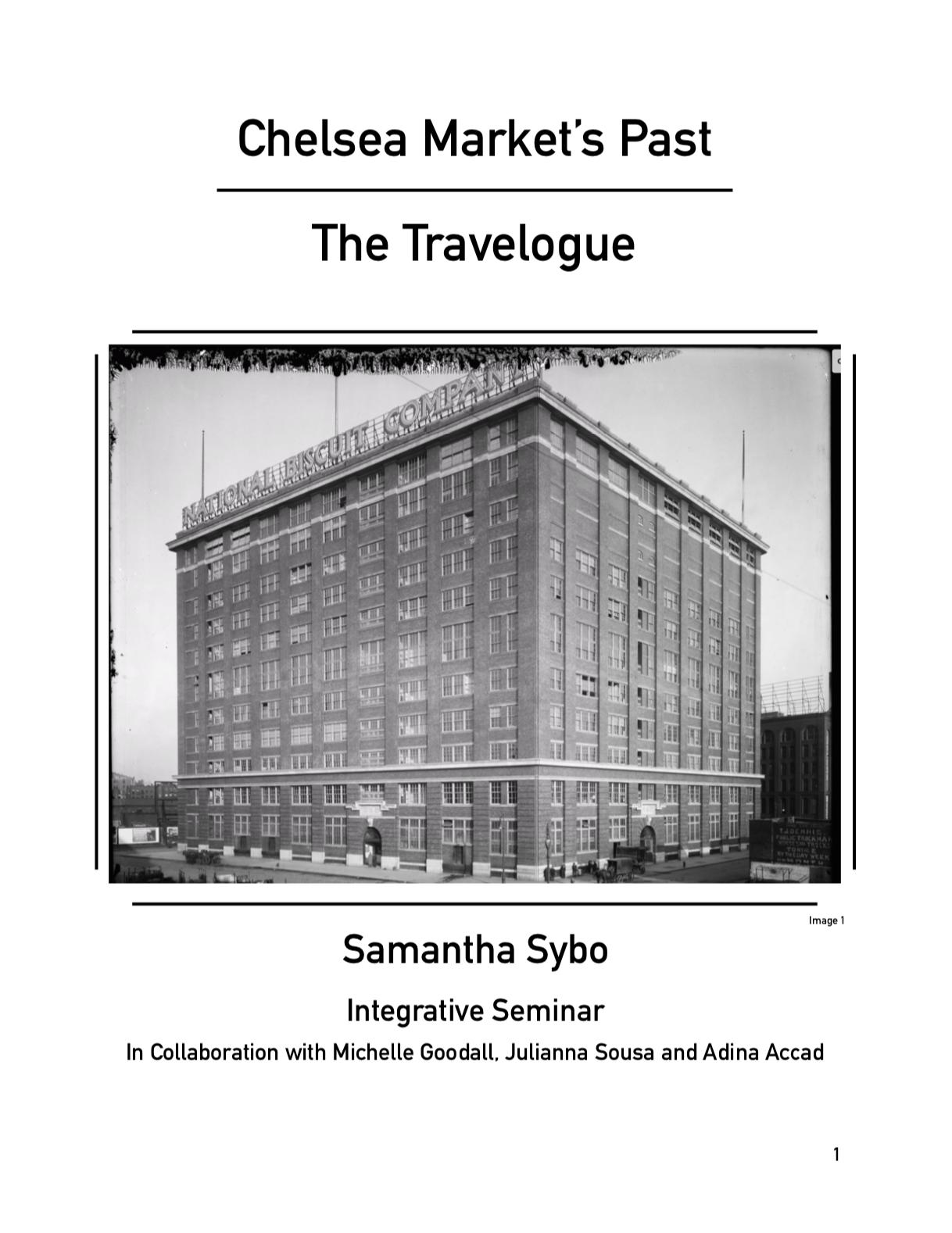 Integrative Seminar Travelogue