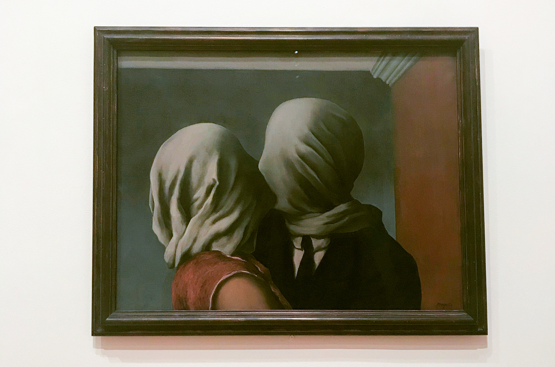 A Formal Analysis of The Lovers by René Margritte