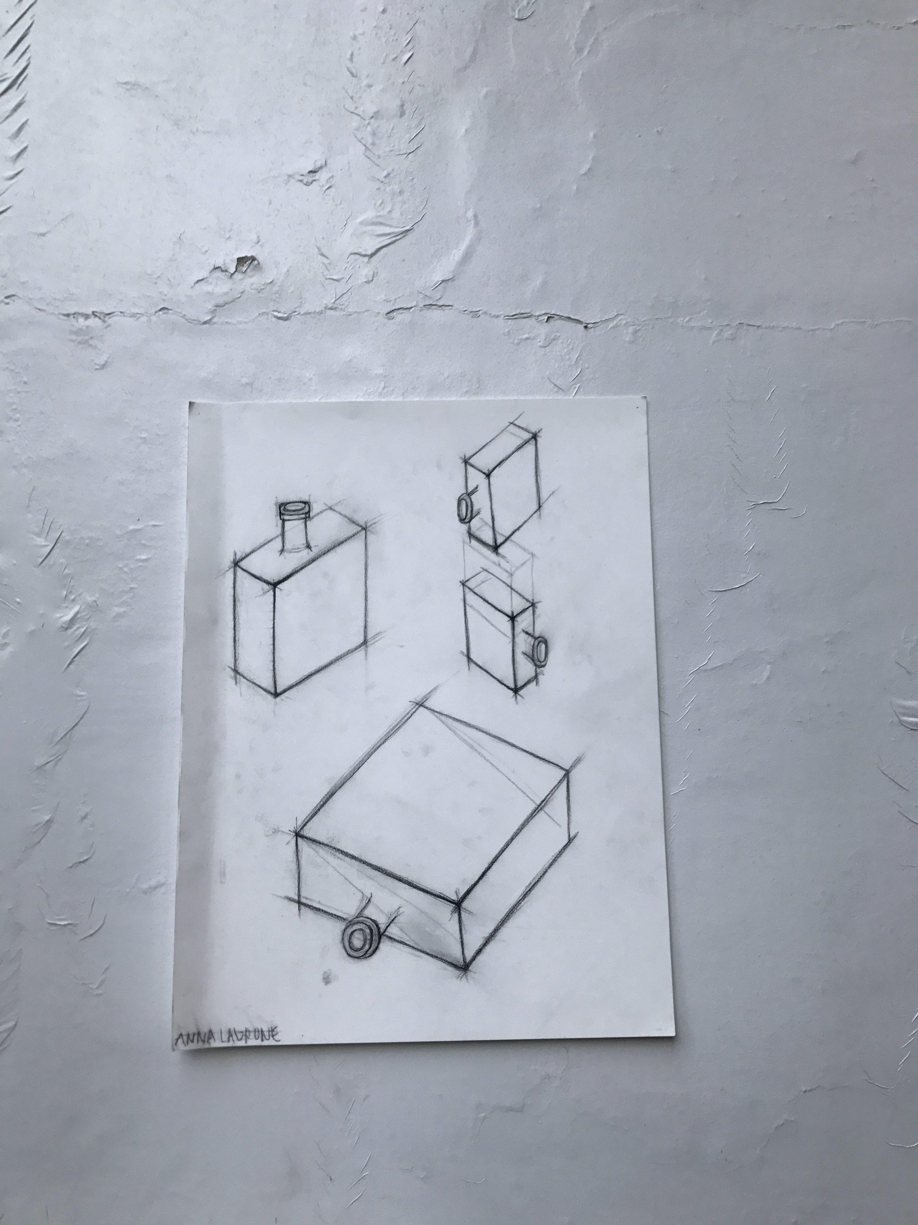"Drawing/Imaging – three ""repeated object"" drawing"
