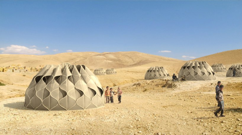 Patterned fabric structures for the desert