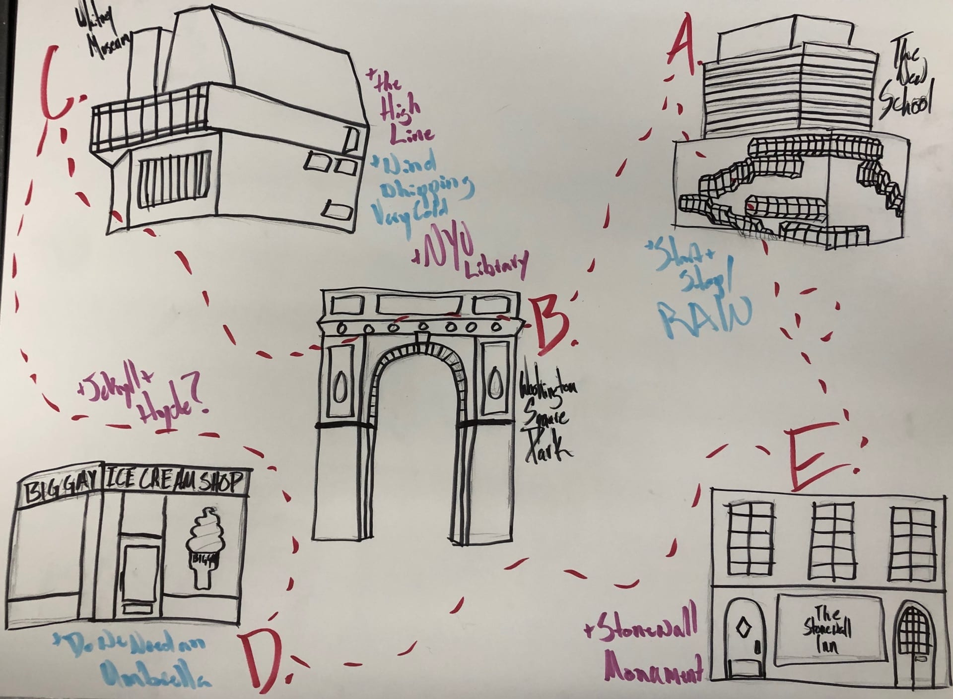 Psychogeographic Map Greenwich Village Nov. 30, 2018