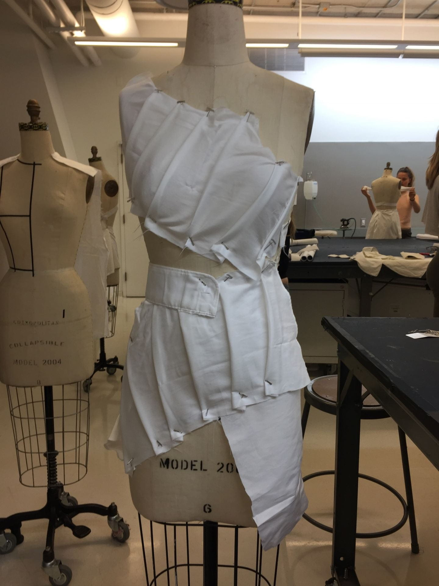 Dress Construction with Fabric