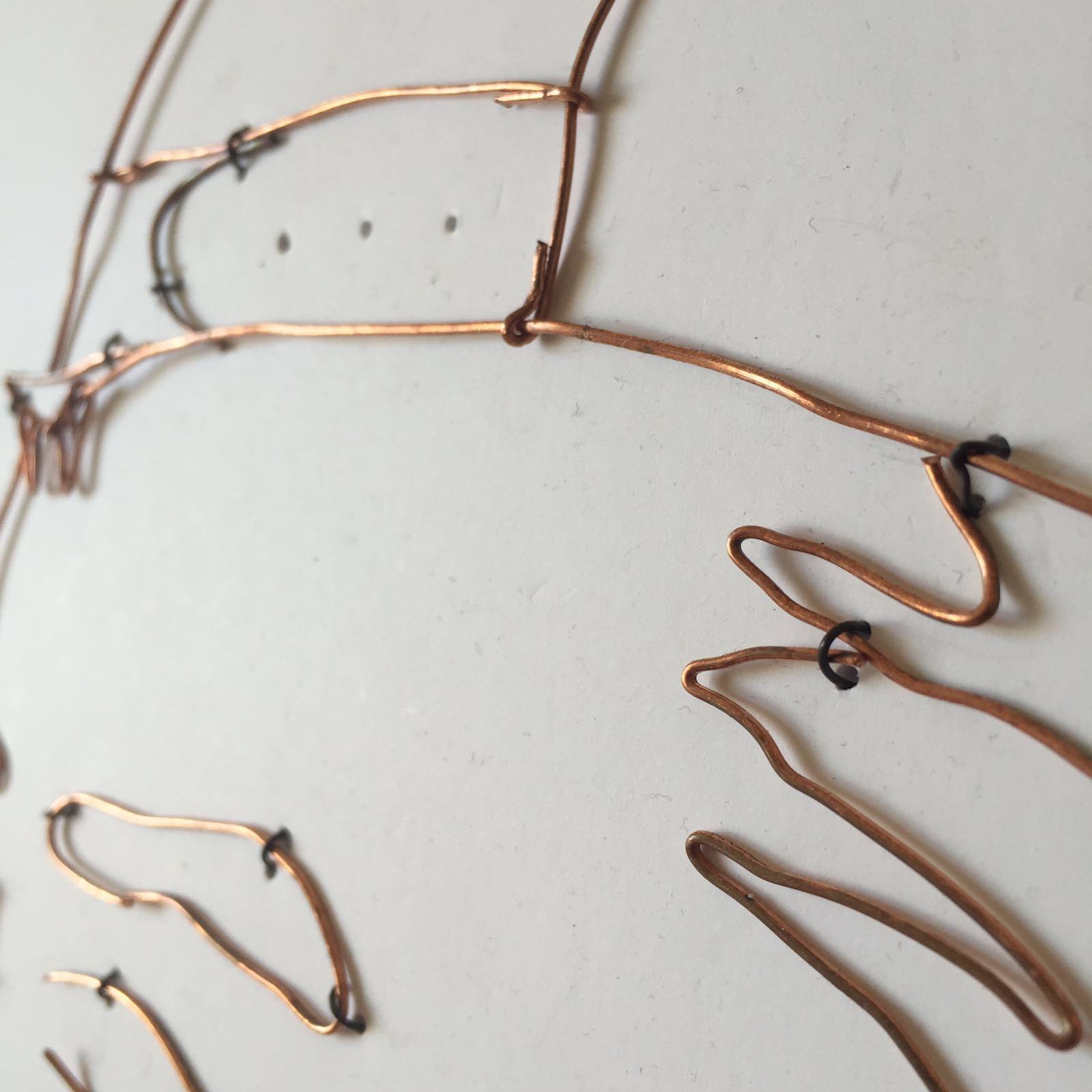 copper wire portrait – Adrian Chiu\'s portfolio