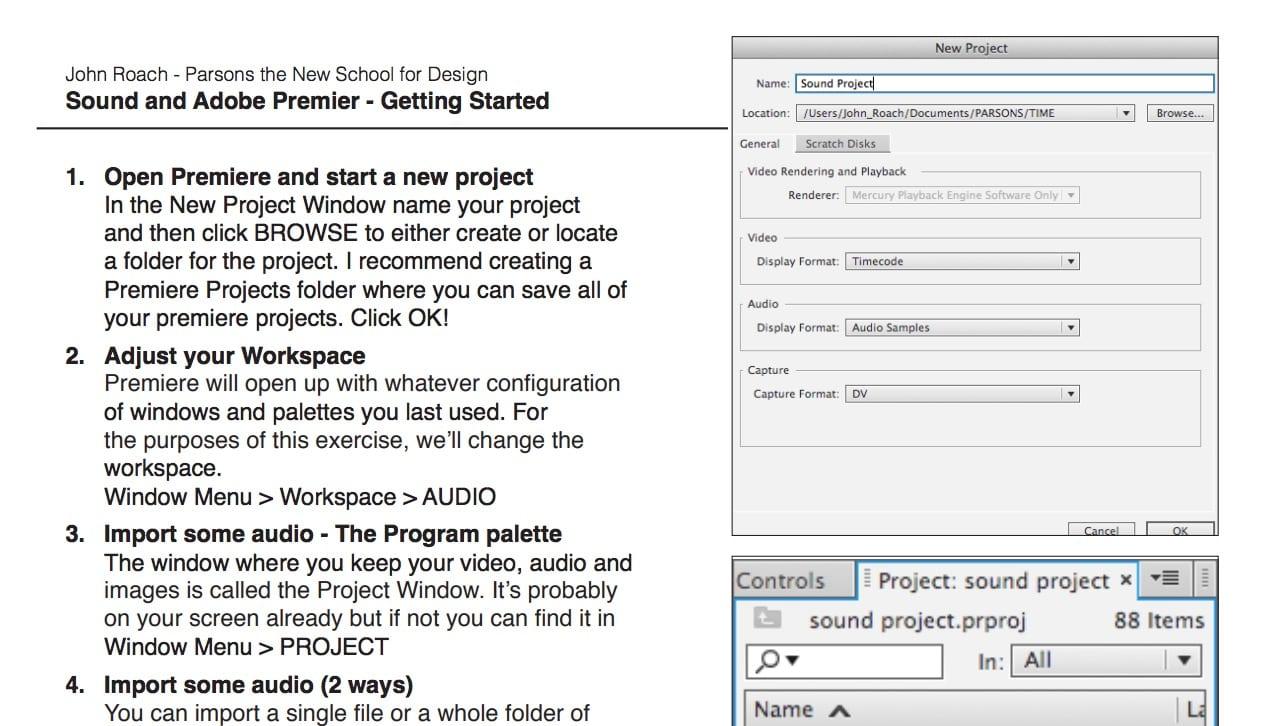 Adobe Premiere – Sound Editing Basics
