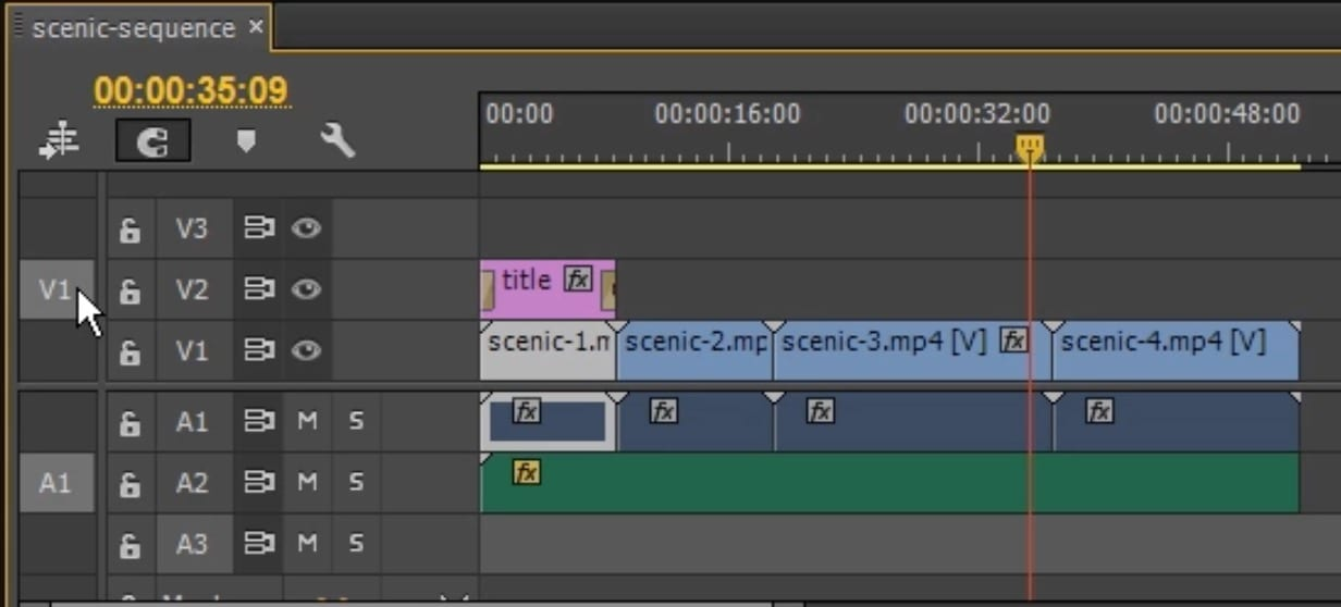 Premiere – Editing –  using the source patching to insert media