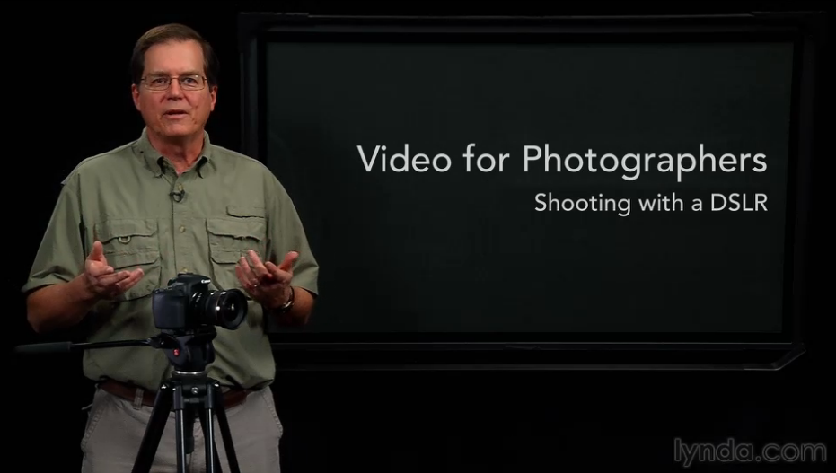 DSLR tips on Lynda.com