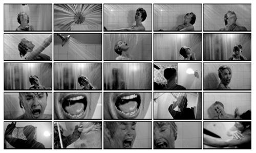 Saul Bass – Storyboard for Psycho shower scene