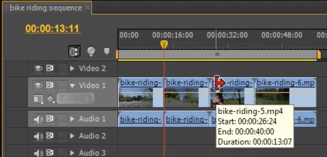 Premiere – Ripple Edit and Rolling Edit Tools