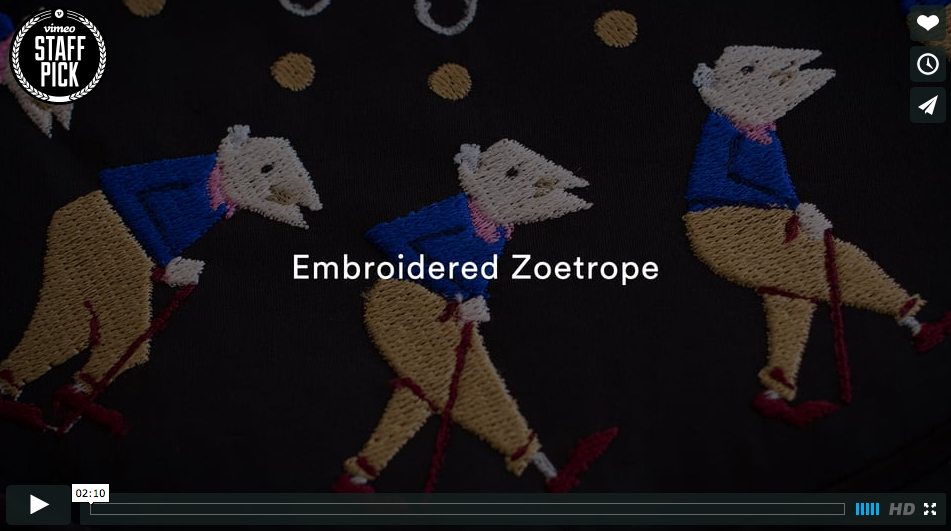 Embroidered Zoetropes