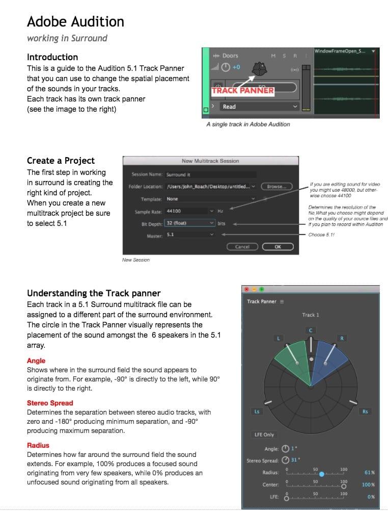 Adobe Audition Basics – John's guide