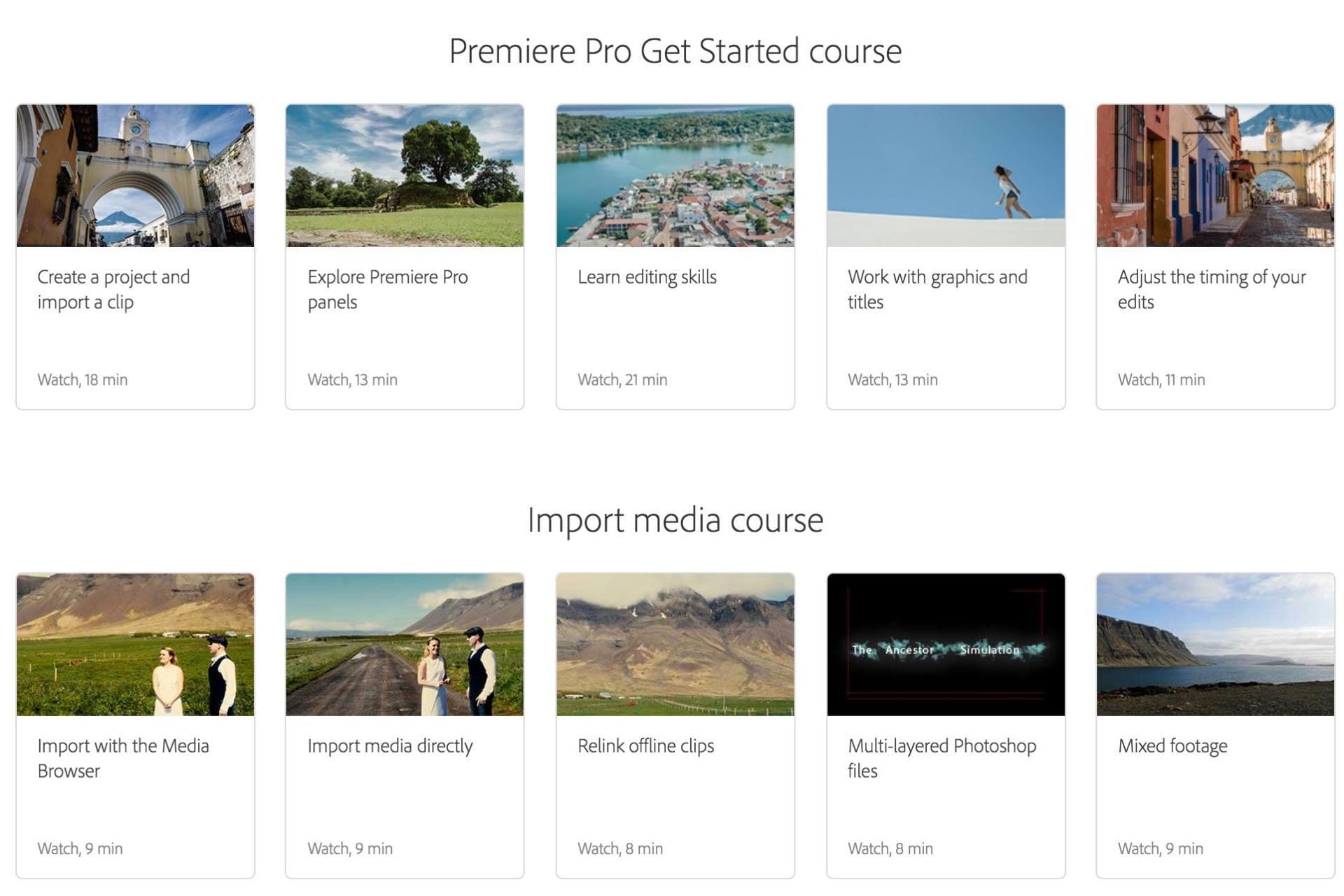 Adobe Premiere Video Tutorials