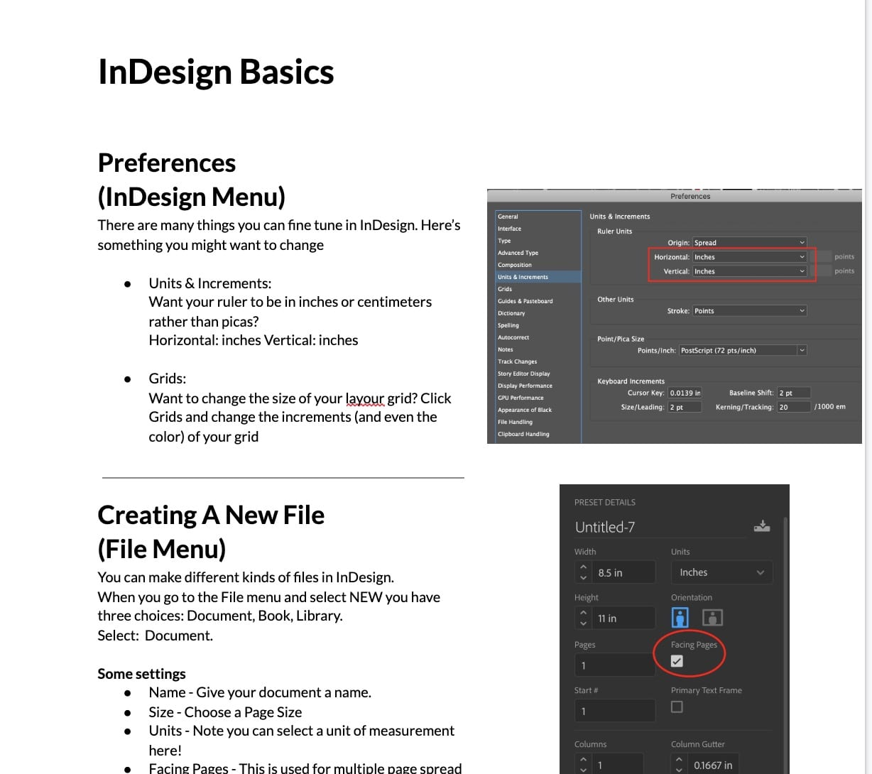 InDesign Basics – John's handout