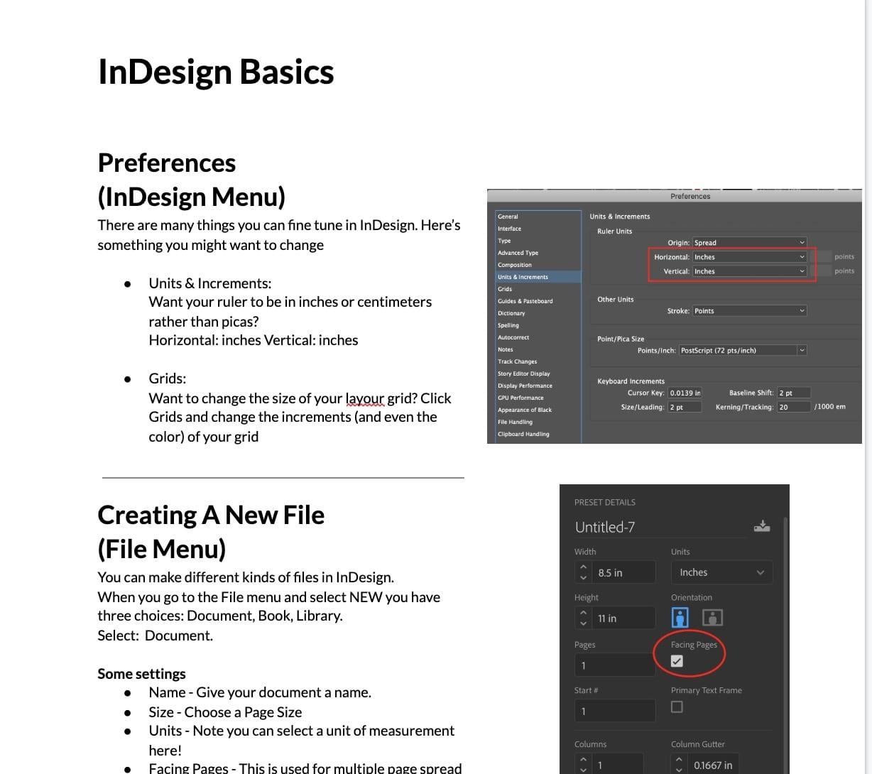 InDesign Basics – John's handout