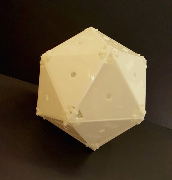 Assignment #10- 3D Laser Cut Polyhedron + Pattern