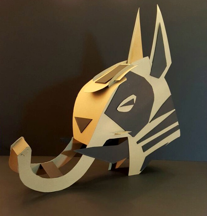 African Chipboard Mask