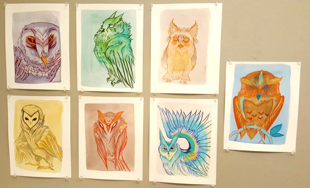 Rule Drawings: Owl