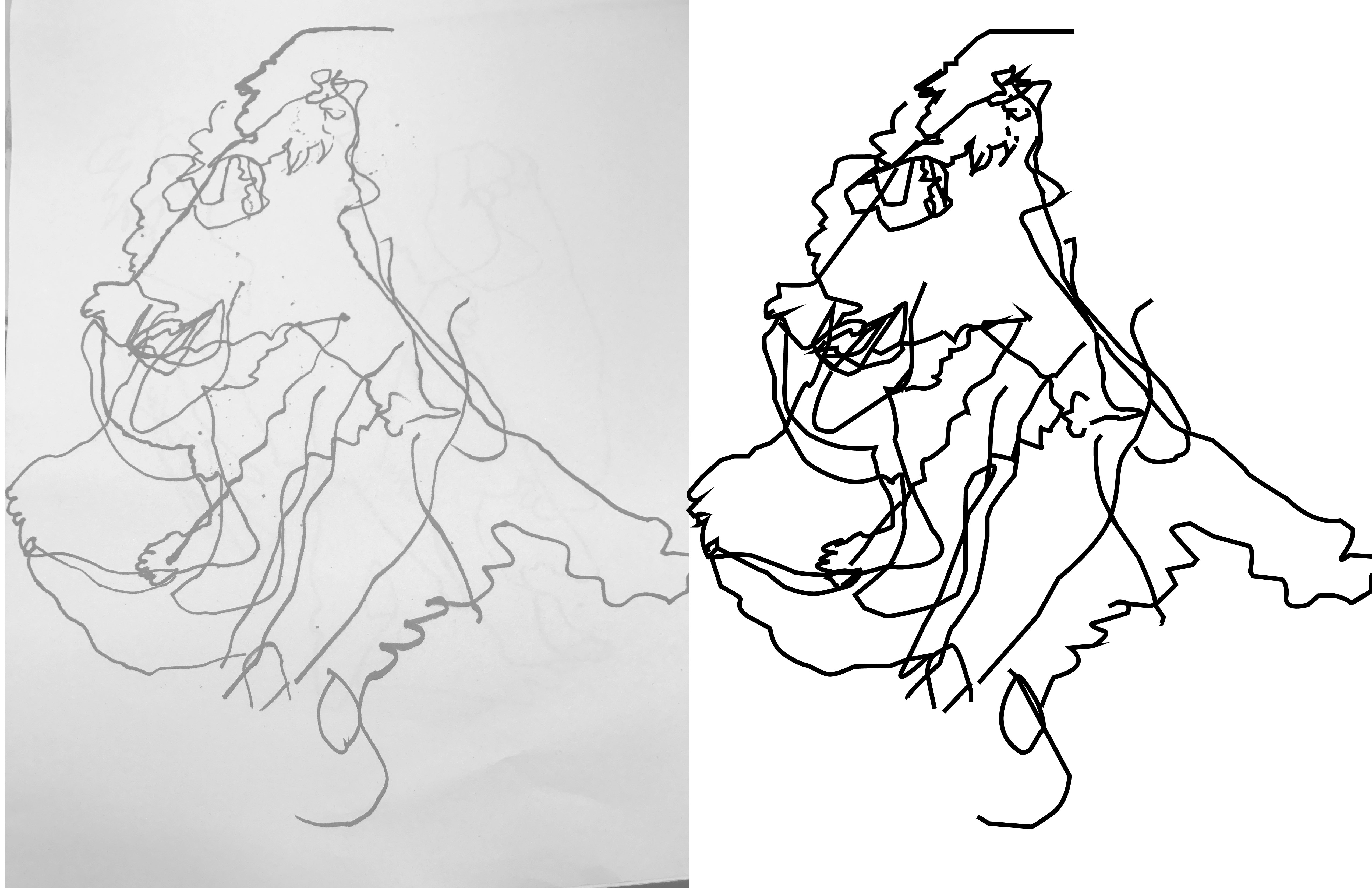 Redrawing Drawings In Illustrator (Gesture and Blind Contour Drawings)