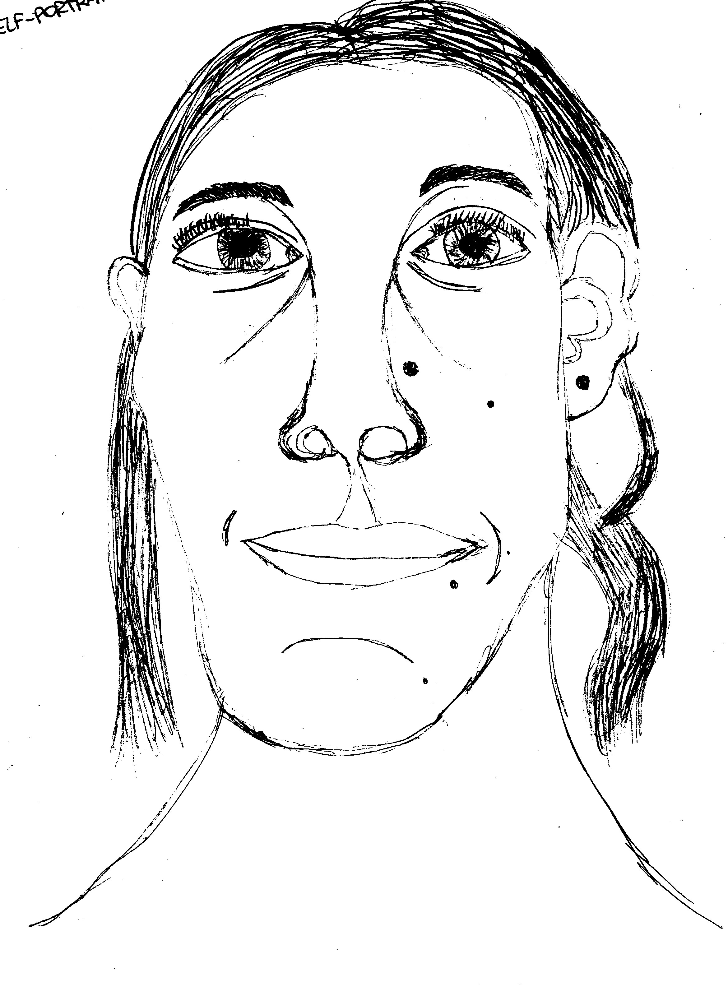 Self-Portrait (white-black values)