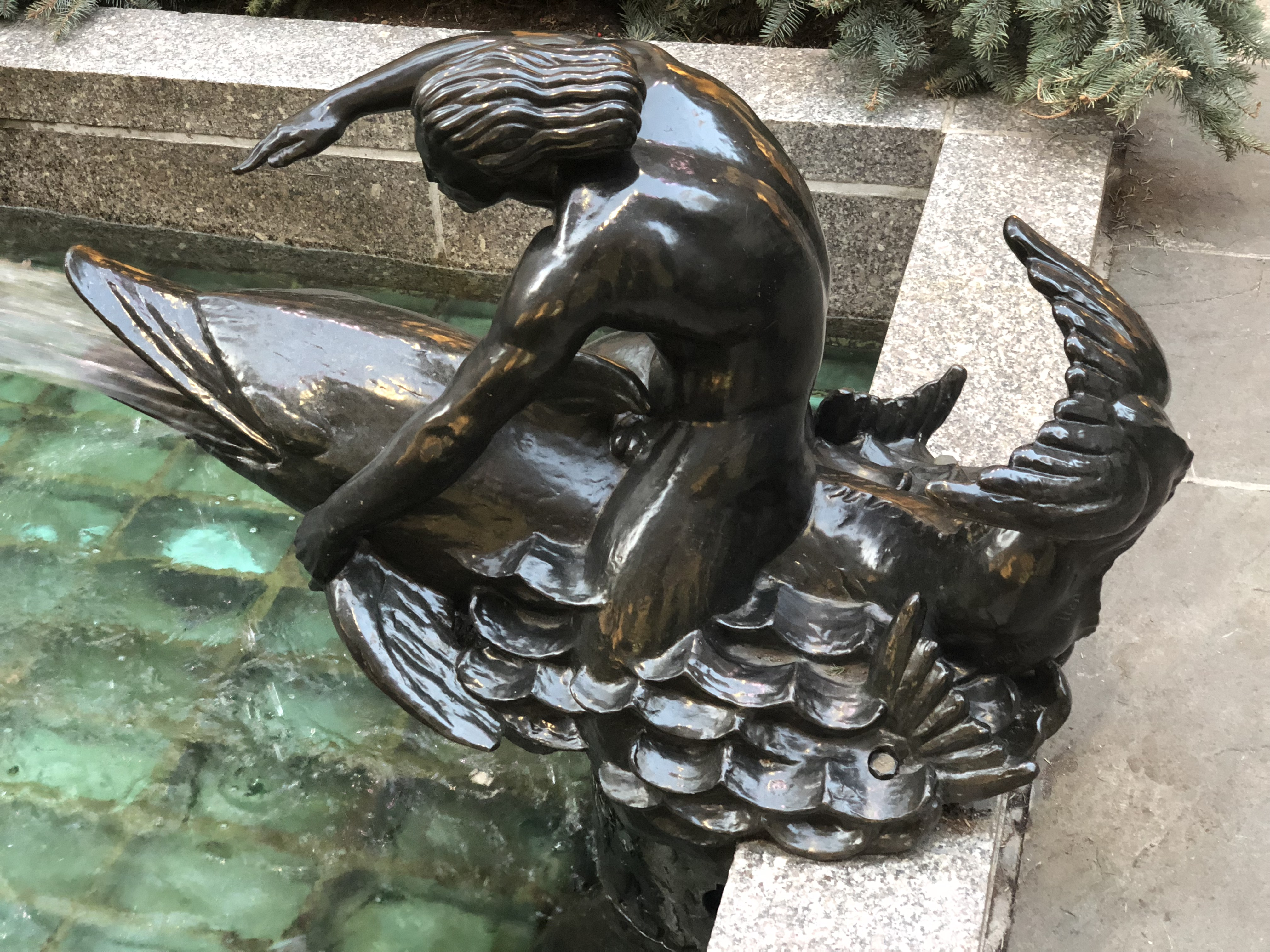 Day 7: Rockefeller Center Fountain Statue