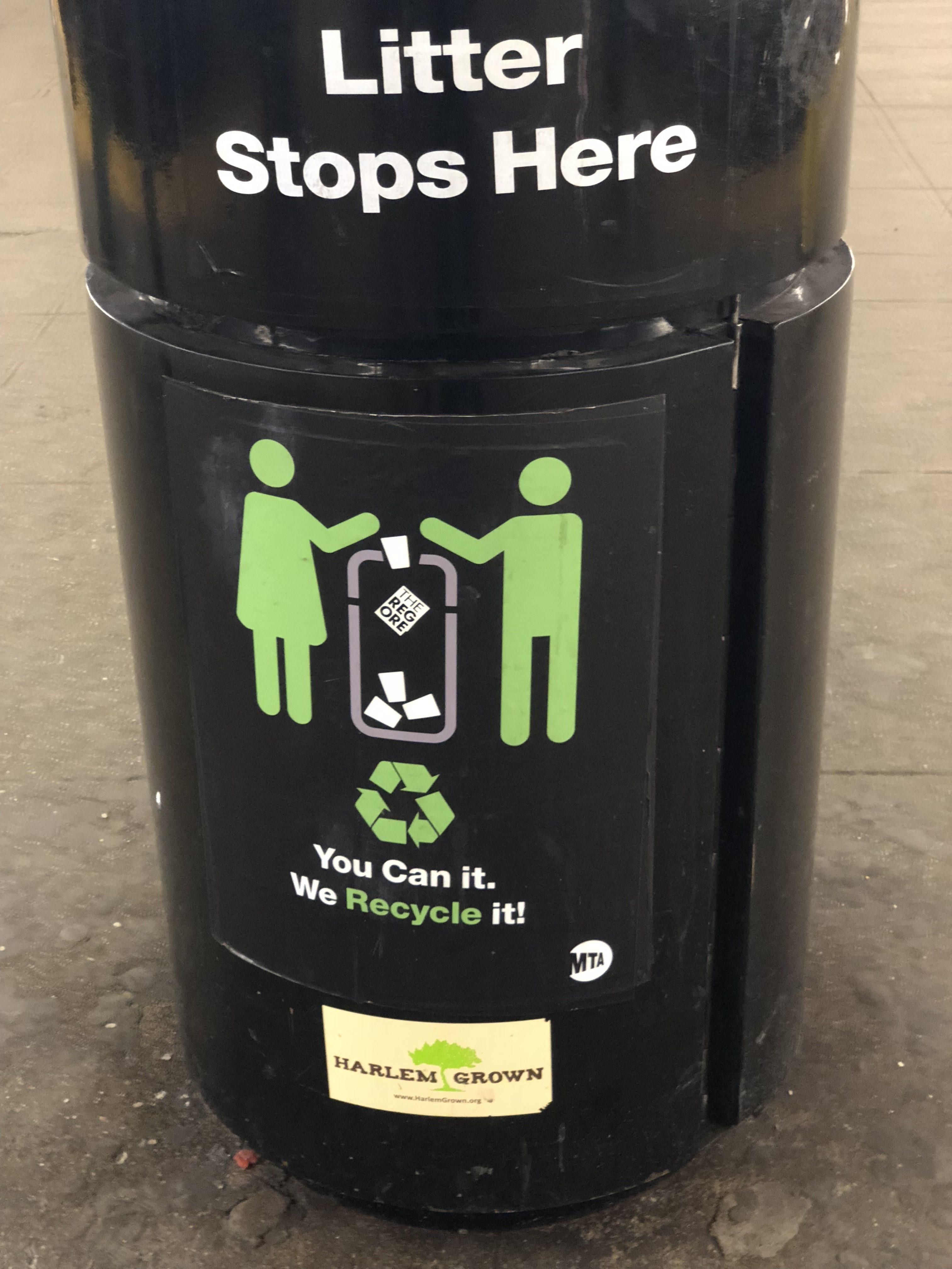 Day 5: Trash bin in nyc subway