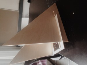 Side view of the First structure I built
