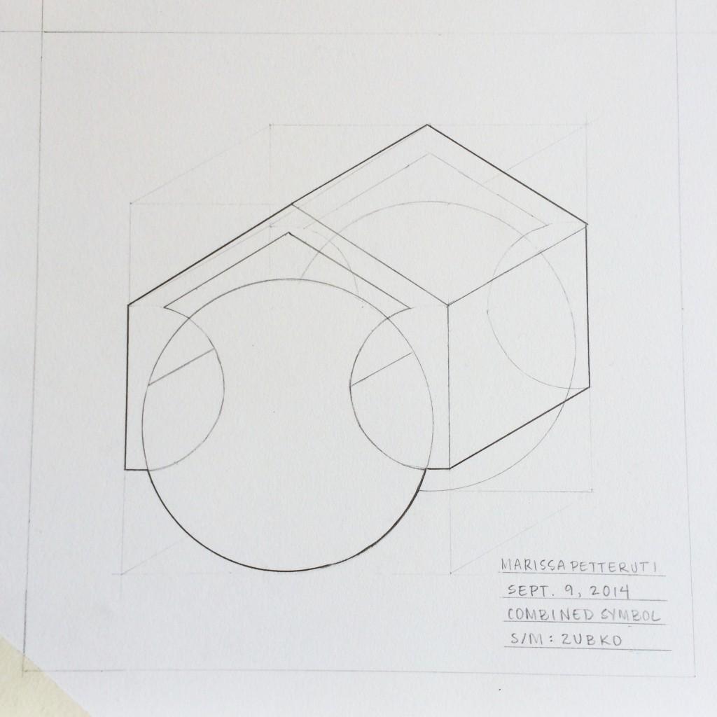 Mixed Symbol 3D Tech Drawing