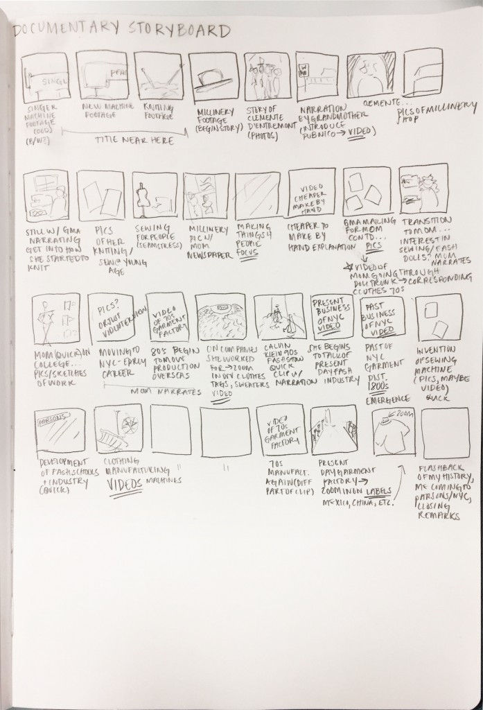 Documentary Storyboard