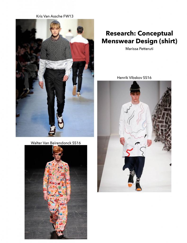 Conceptual Menswear Design