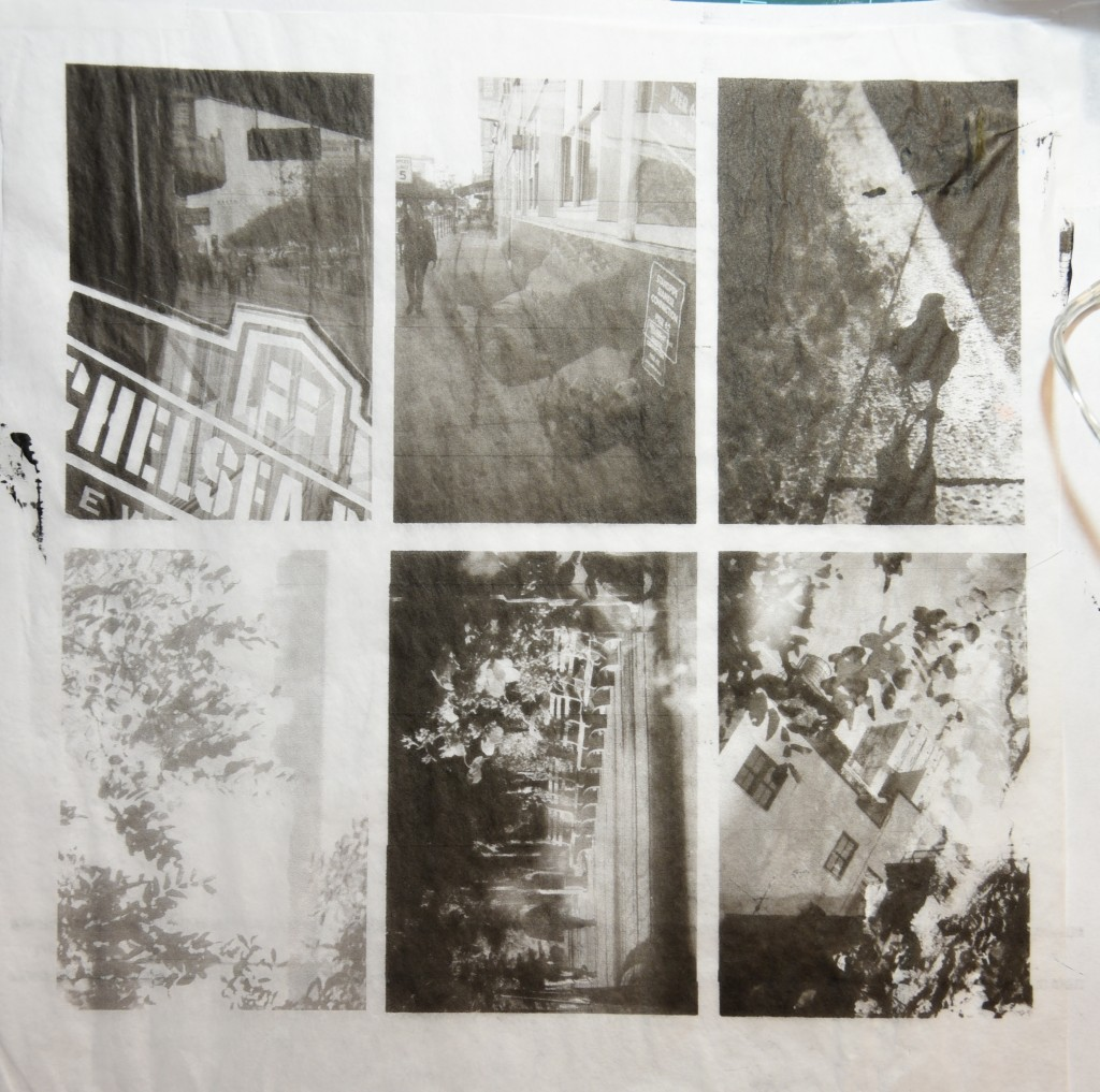 tissue paper print outs- multiple exposure photos
