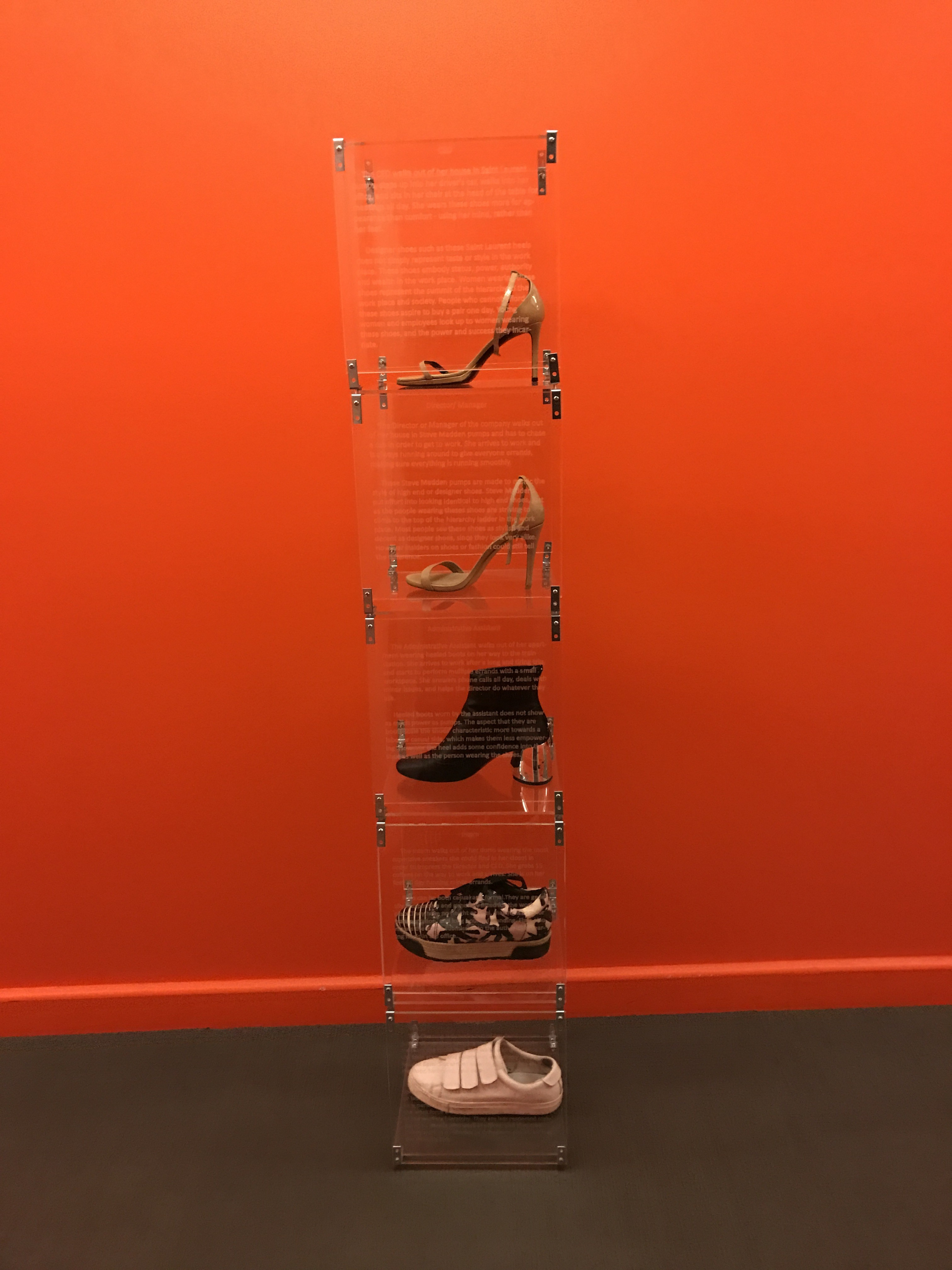 Integrative Studio 1 – Memory: Diorama/Display-Shoes in a Woman's Workplace