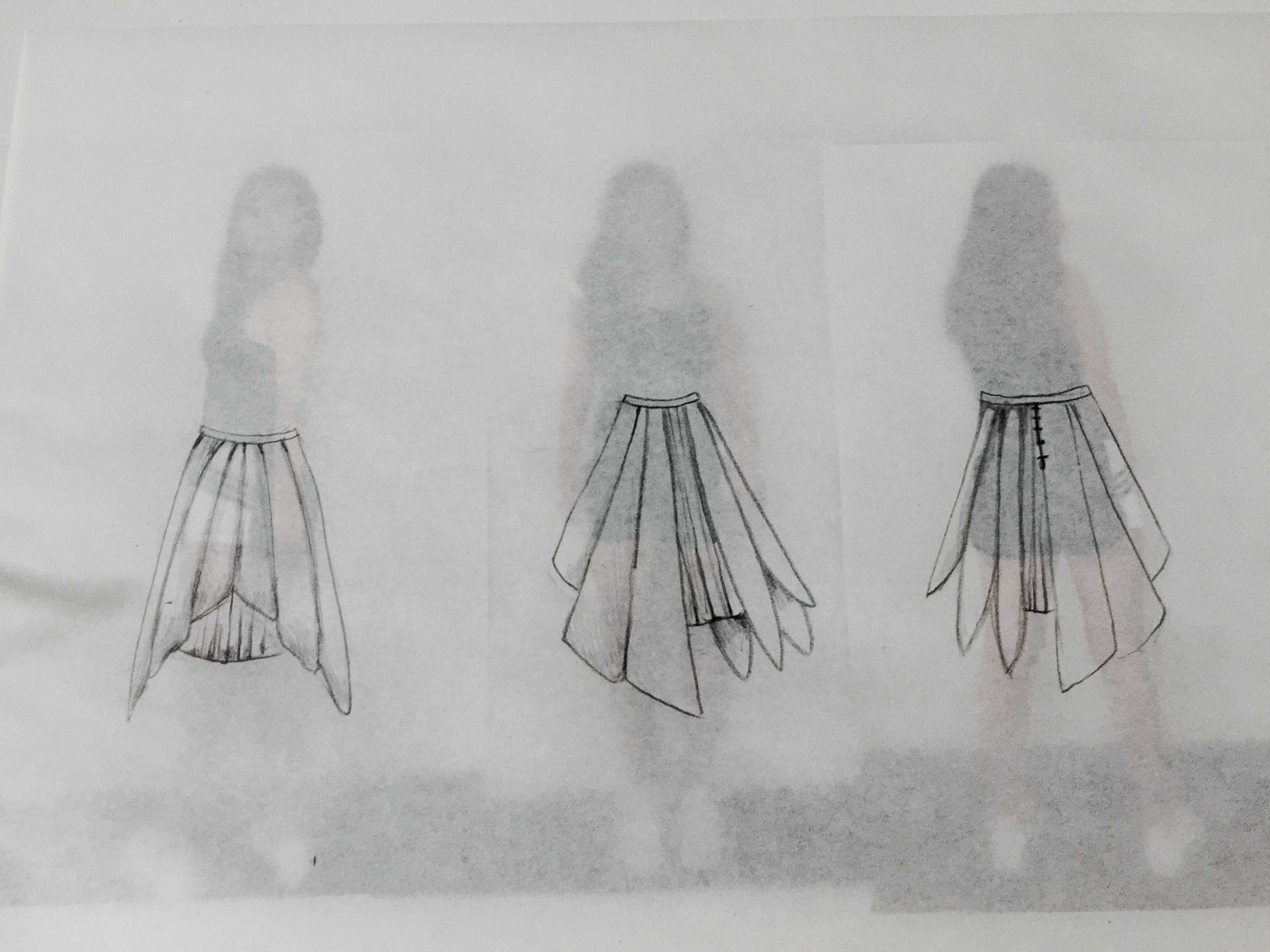CTS1: Final Skirt Sketches (In-Progress)