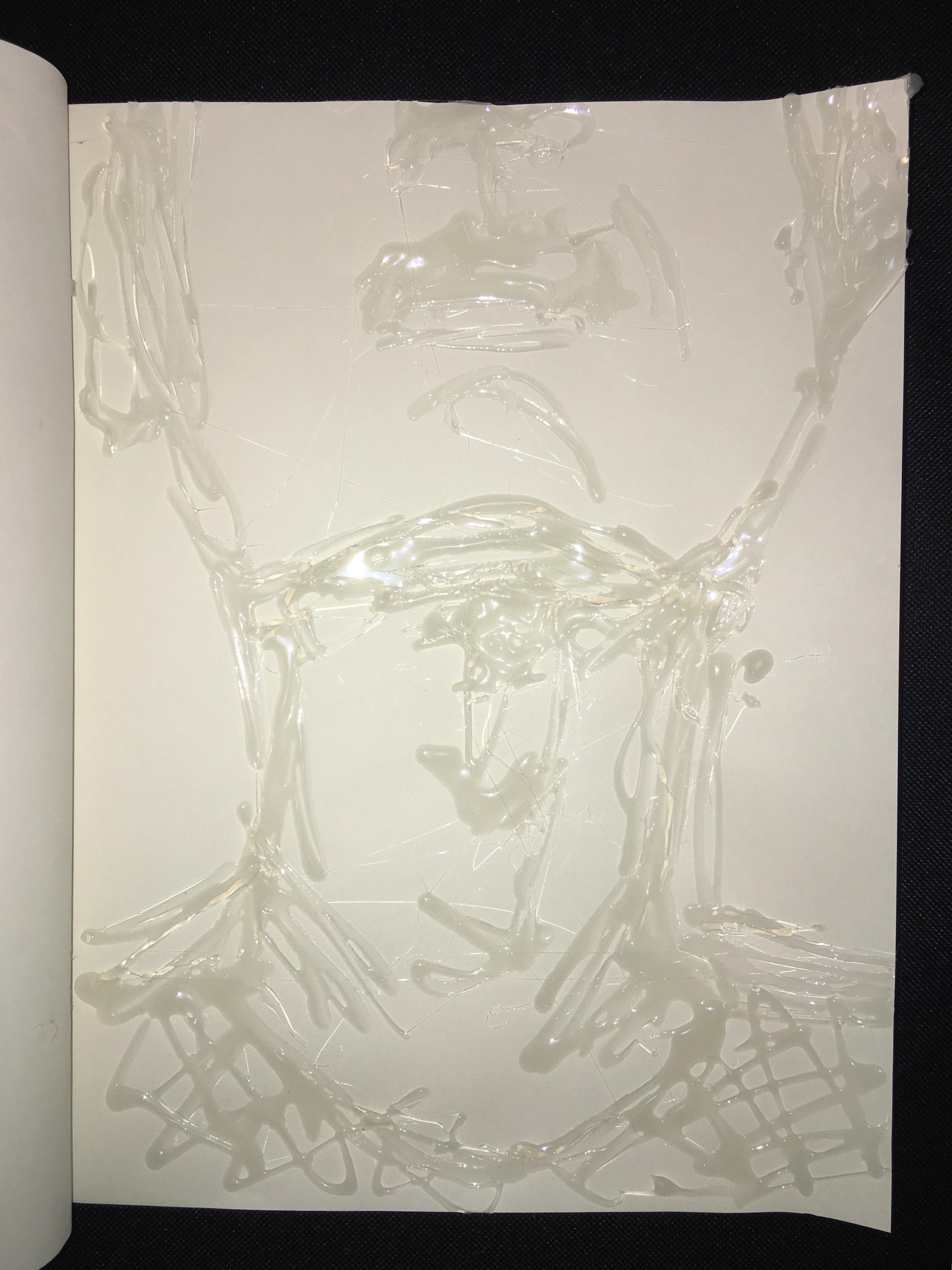 Experimental Drawing Tools: Hot Glue & Light