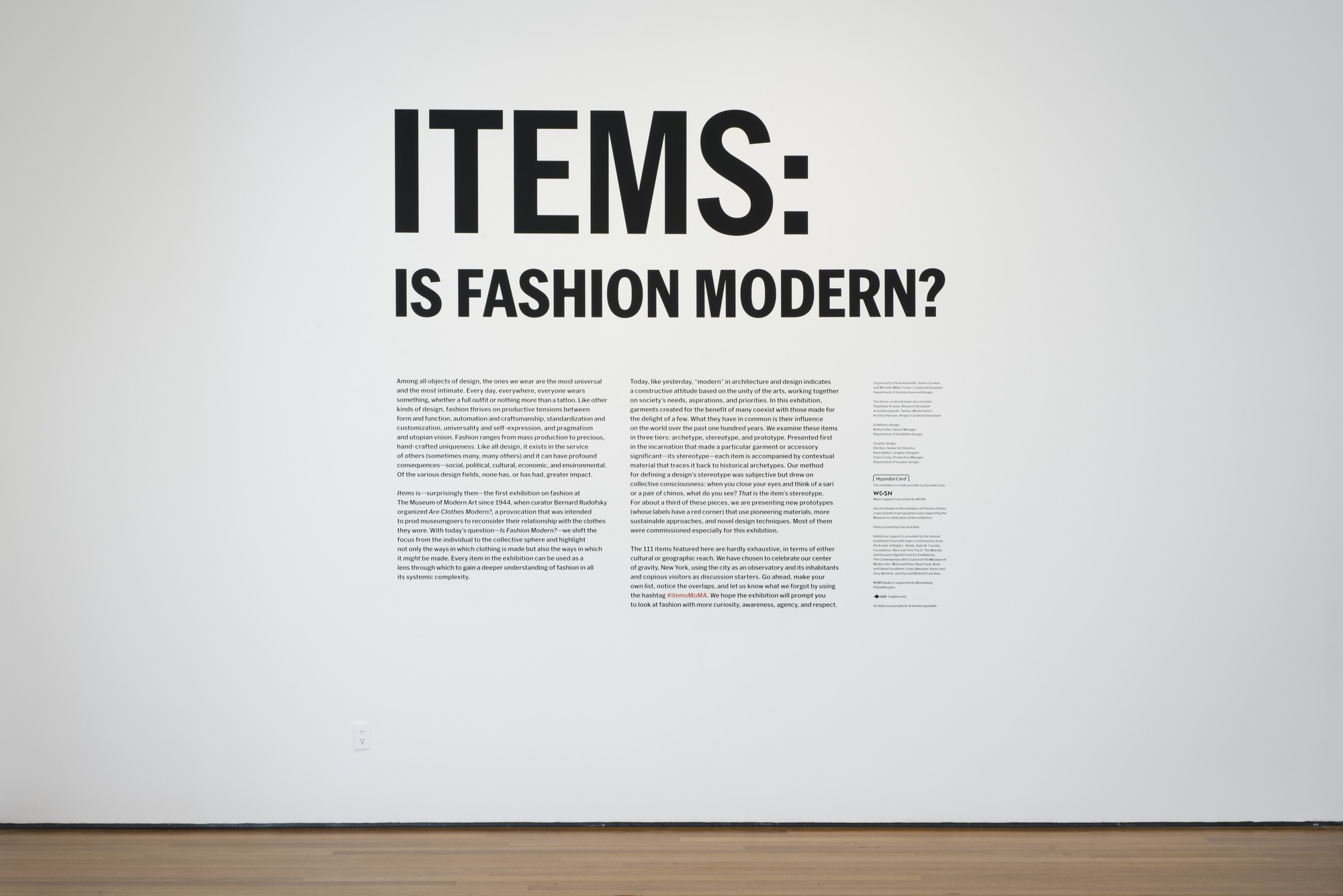 Items: Is Fashion Modern? Exhibit – Response