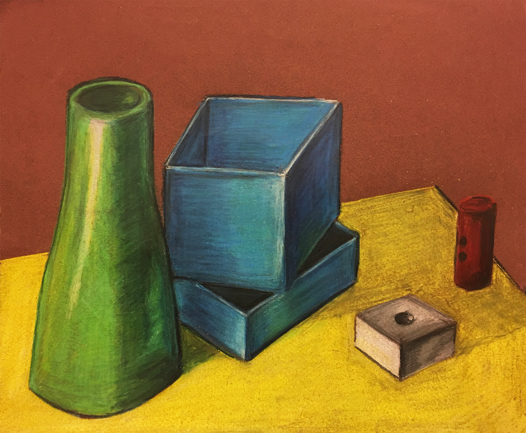 Objects In Color Pencil Exercise Zachary Fernandez