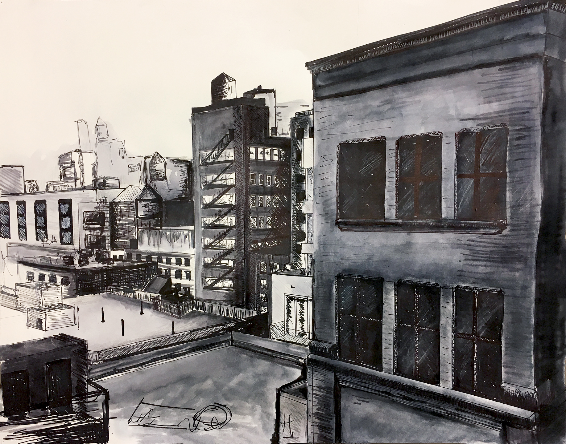 Drawing + Imagining: Perspective Landscape