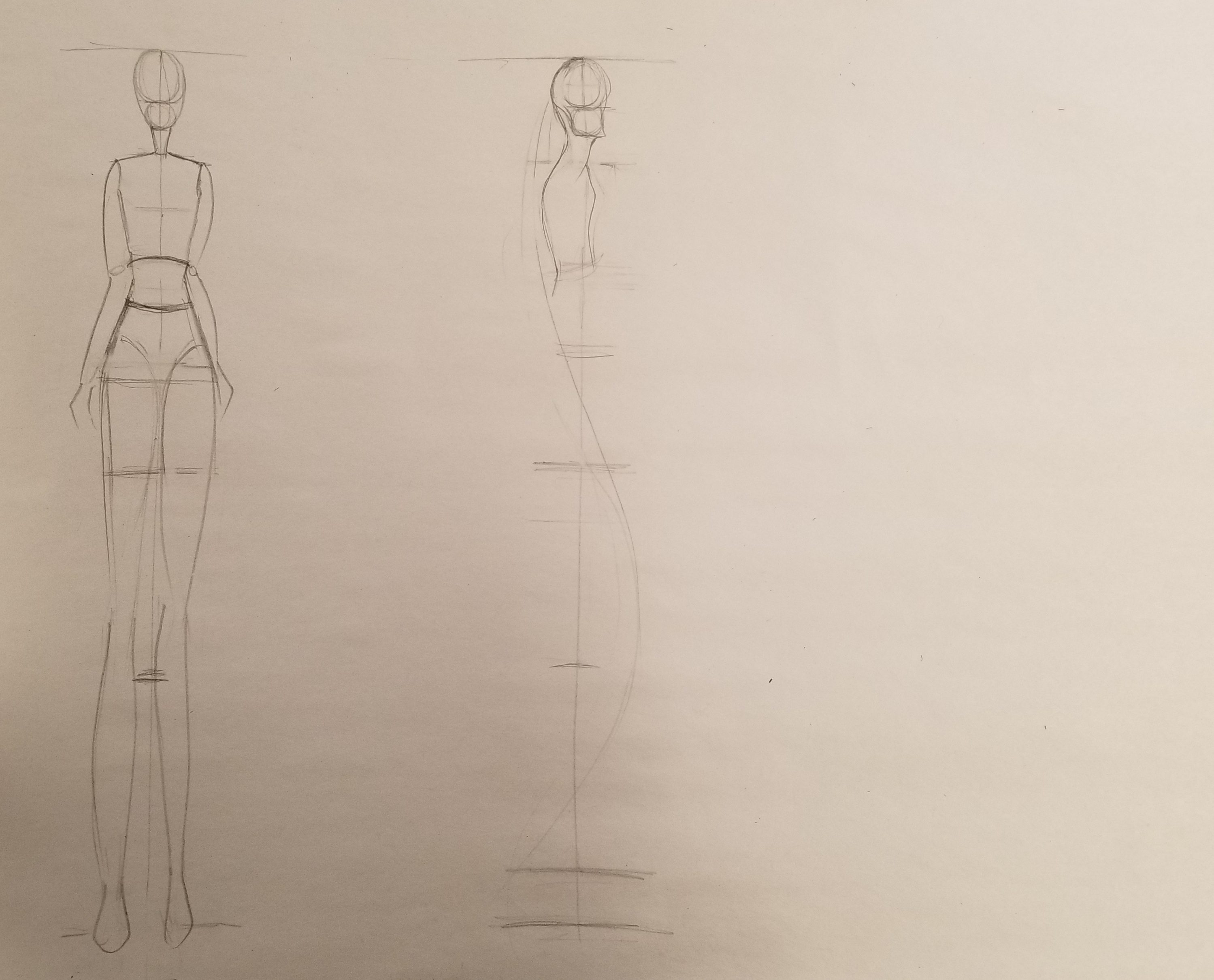 Drawing:Form & Fashion Exam 1