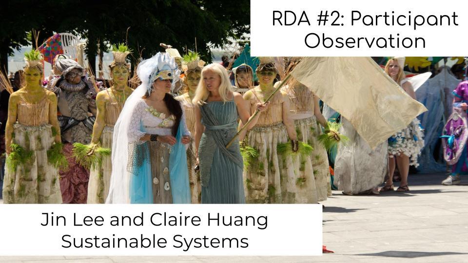 RDA #2: Participant Observation