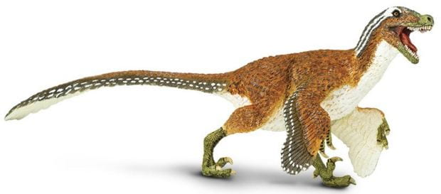 feathered velociraptor toy