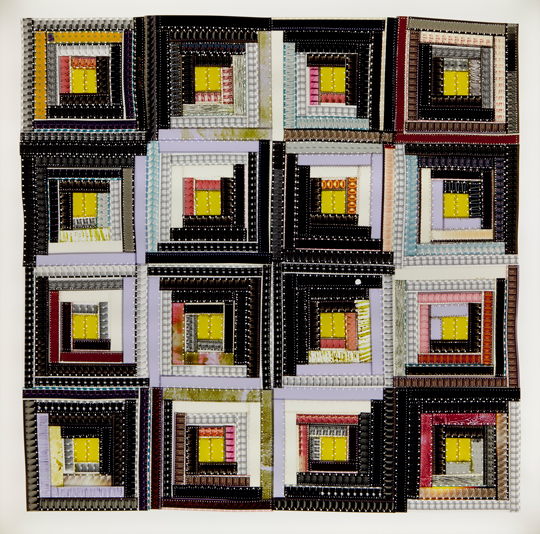 Artist uses 16mm film to create quilts