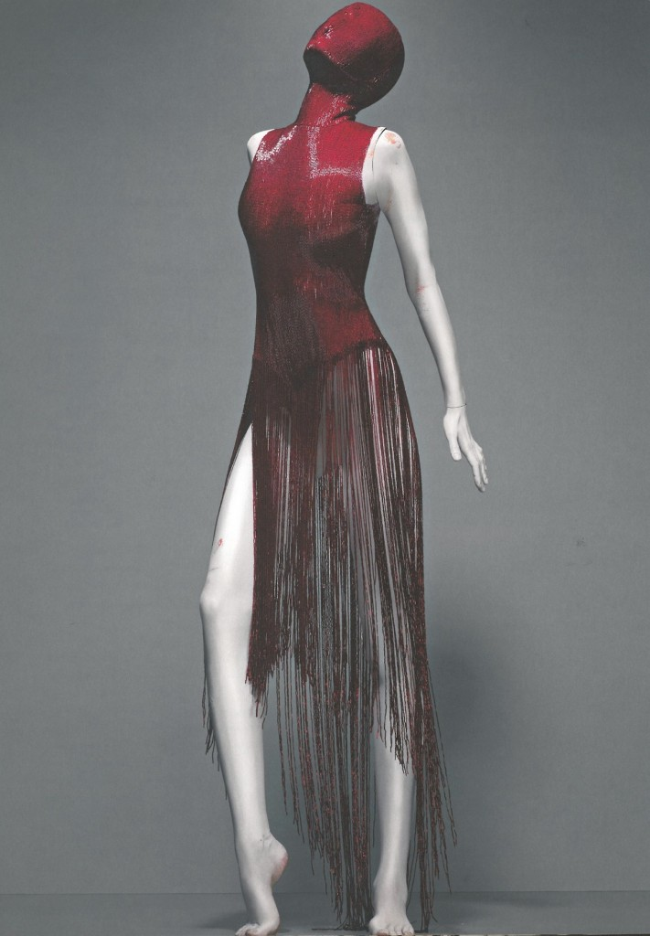 Alexander McQueen. Dress, Joan, autumn/winter 1998-99. Red Bugle Beads