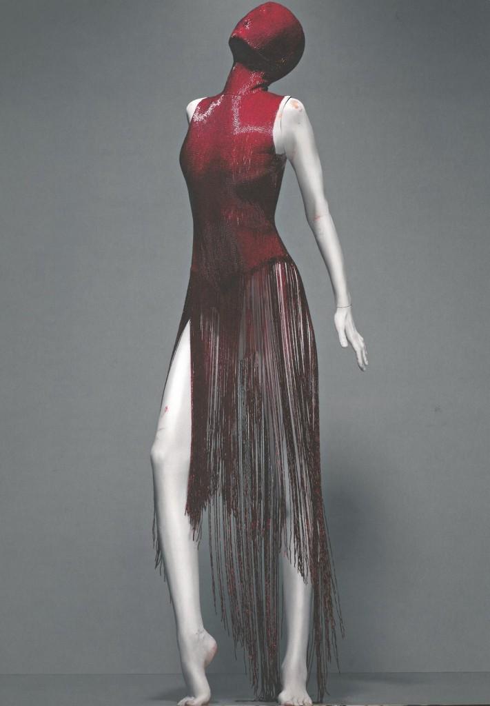 Alexander McQueen. Dress, Joan, autumn/winter 1998-99. Red Bugle Beads