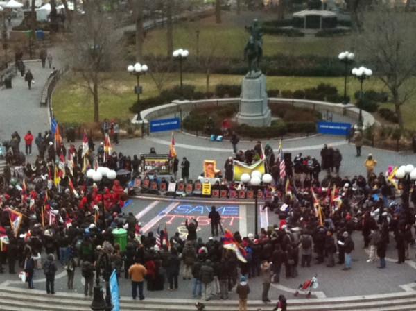 Times Square Free Tibet Rally – John roach