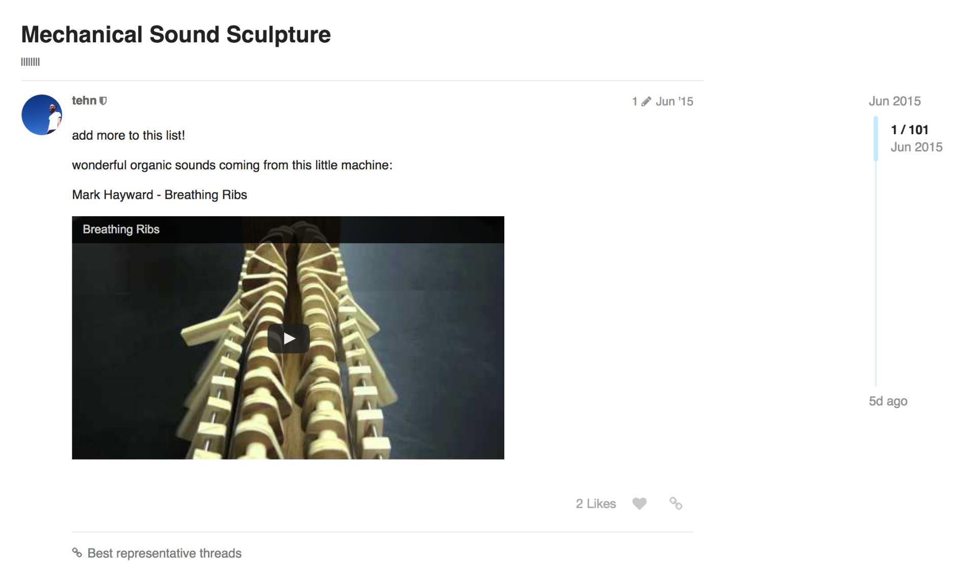 Thread about Mechanical Sound Sculpture