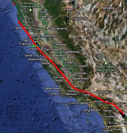 Week Watching A Movie San Andreas Nates Portfolio - San andreas fault map