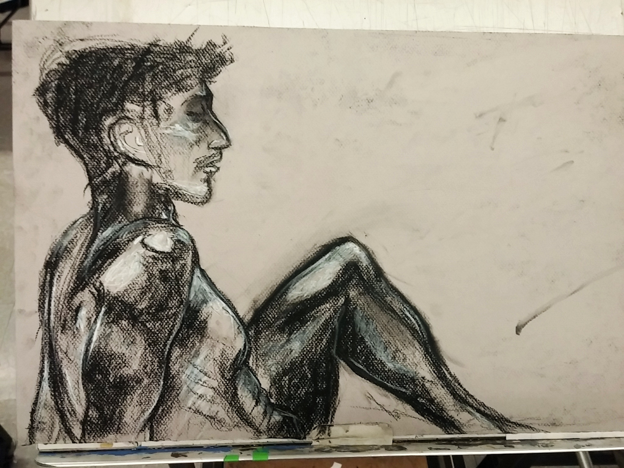 Analog drawing – foreshortened figure