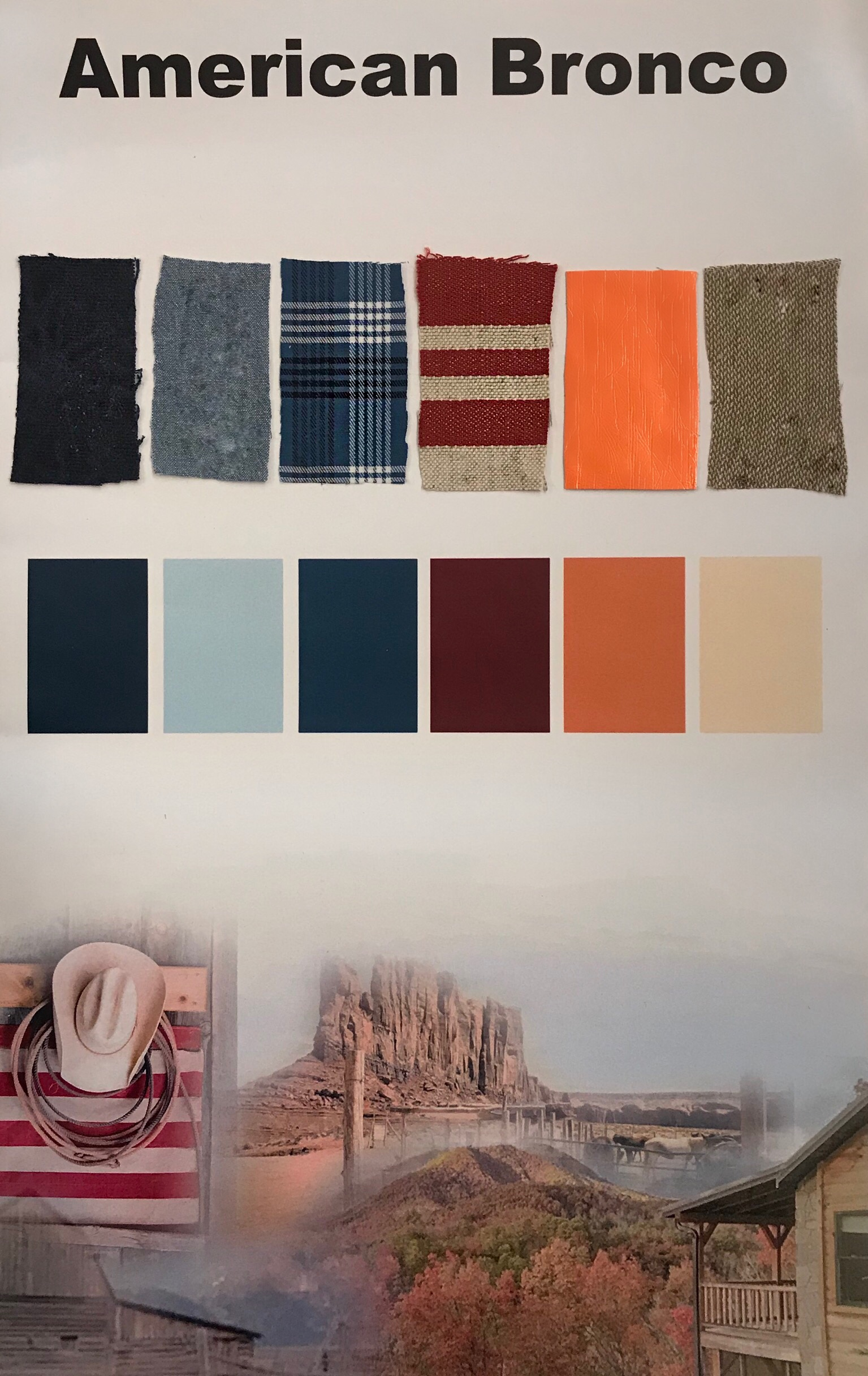 Color Palette and Textile Board