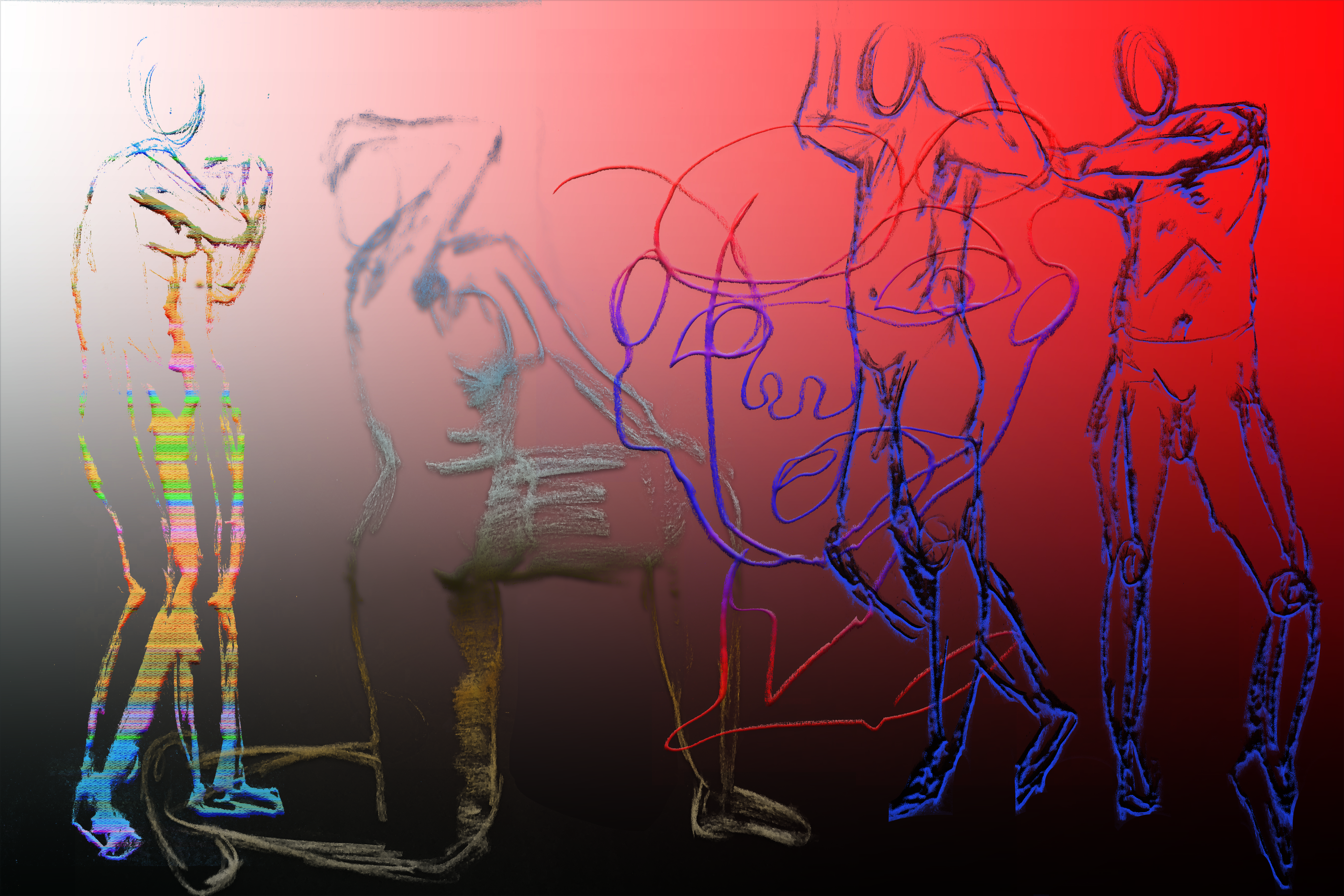 Project #3 – The Figure In Motion (Drawing and Photoshop)